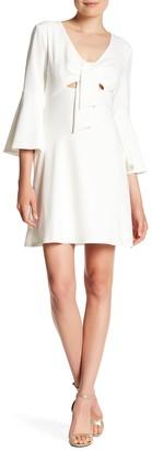 ABS by Allen Schwartz Flutter Sleeve Babydoll Dress
