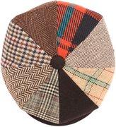 Sakkas NSB2323 - Jay Gatsby 8 Panel Wool Newsboy Paperboy Snap Brim Cap Hat - multi - M