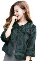 Humiture New Fashions Lady Rabbit Fur Coat, Short Coat For Women 8803 (2XL, )