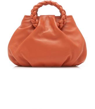 Hereu Bombon Braided Leather Top Handle Bag