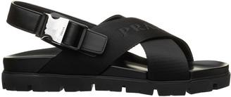 Prada Buckled Black Sandals