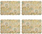 Waverly Paddock Shawl Paisley Quilted Placemats, Set of 4