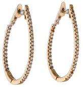 14K Diamond In & Out Oval Hoop Earrings