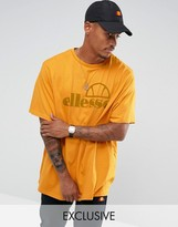 Ellesse Oversized T-shirt With Large Logo In Gold