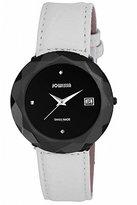 Jowissa Women's J1.239.XL Safira 99 Black PVD Stainless Steel Genuine Leather Date Watch