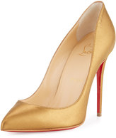 Christian Louboutin Pigalle Follies Leather 100mm Red Sole Pump, Bronze