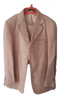 Dewitt Orange Linen Suits