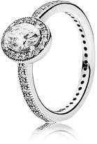 Pandora Ring - Sterling Silver & Cubic Zirconia Vintage Elegance