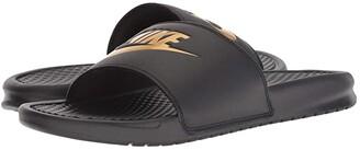 Nike Benassi JDI Slide (Black/Gold) Men's Slide Shoes