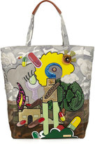Marc Jacobs x Julie Verhoeven Camo-Print Appliqué; Tote Bag