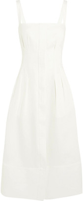 CASASOLA Linen-blend Midi Dress