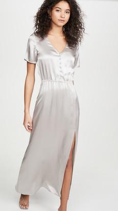 SABLYN Addison Satin Button Front Dress