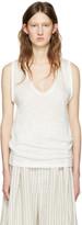 Isabel Marant White Linen Maik T-shirt