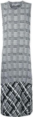 Comme Des Garçons Pre-Owned Check Panel Dress