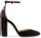 Chloé Embellished Suede Pumps - Black