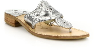 Jack Rogers Hamptons Metallic Leather Sandals