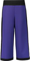 M Missoni Cropped two-tone crepe de chine wide-leg pants