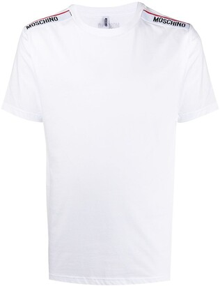 Moschino logo-tape trim crew neck T-shirt