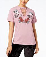 Disney Juniors' Minnie Mouse Lace-Up T-Shirt
