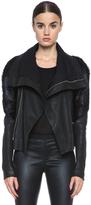 Rick Owens Monkey Sleeve Lambskin Leather Jacket