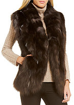 Katherine Kelly Frank Real Fox Fur Vest