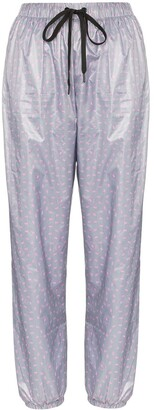 Natasha Zinko High-Waisted Motif Track Pants