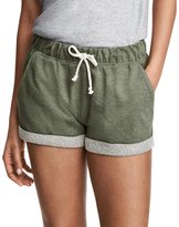 Lily-Li Elastic Waist Cotton Sport Shorts with Pockets and Drawstring for Women