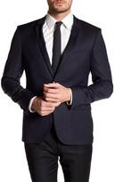 HUGO BOSS Adris Notch Lapel Two Button Long Sleeve Wool Sport Coat
