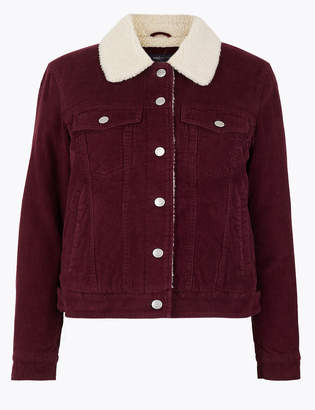 M&S CollectionMarks and Spencer Borg Lined Short Jacket