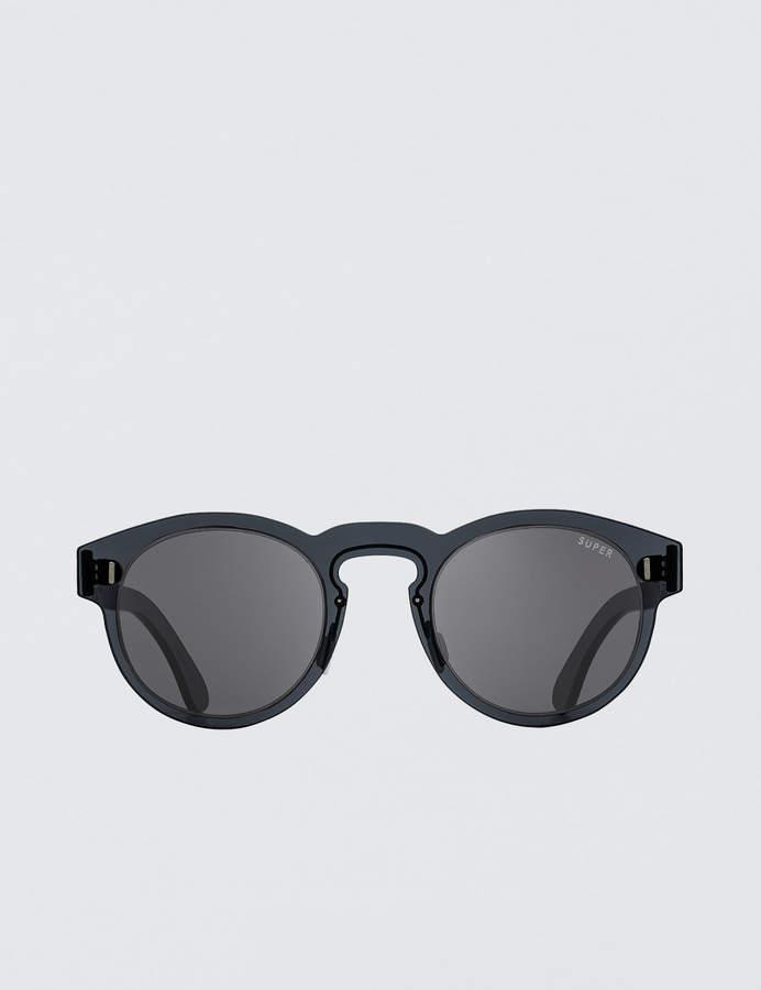 RetroSuperFuture Super By Duo-lens Paloma Silver & Black Sunglasses