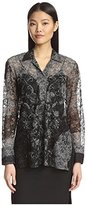 Natori Women's Plaid Mesh Tunic