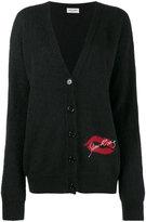 Saint Laurent Oversize Mohair-blend cardigan