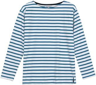 Emma Long Sleeve Teal Breton Stripe