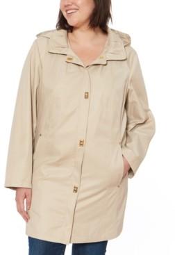 Jones New York Petites Jones New York Petite Hooded Raincoat