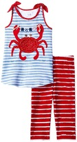 Mud Pie Crab Tunic Capris Set Girl's Active Sets