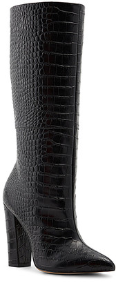 Aldo Women's Casual boots BLACK - Black Ibilia Croc-Texture Leather Boot - Women
