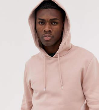 Asos Design DESIGN Tall long line zip up hoodie in pink