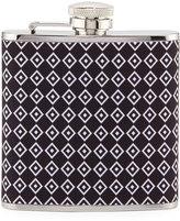 Neiman Marcus Diamond Stainless Steel Flask, Black/Multi
