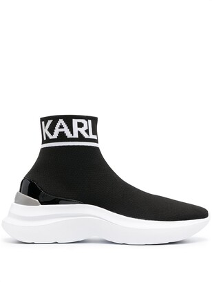 Karl Lagerfeld Paris Skyline knit pull-on sneakers