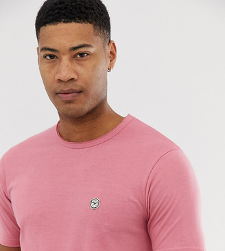 Le Breve Tall raw edge longline t-shirt-Pink