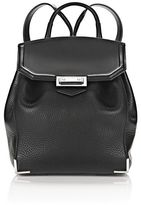 Alexander Wang Prisma Mini Backpack In Pebbled Black With Rhodium