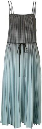 Proenza Schouler White Label Ombre Plaid Dress