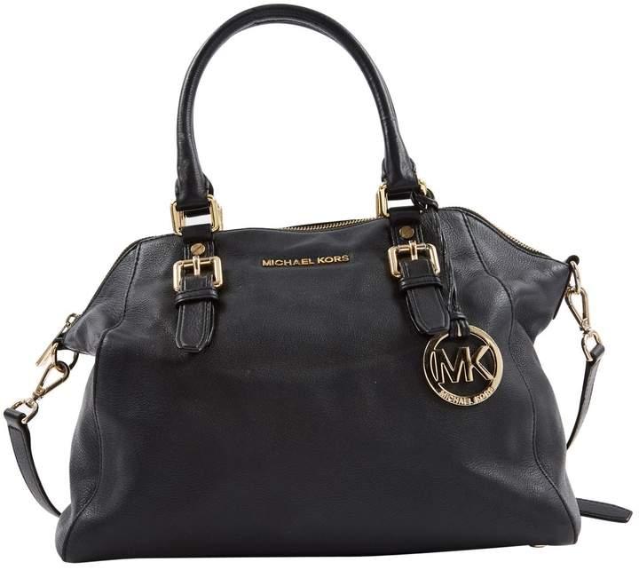 3bb3ab1f18a0 Michael Kors Black Leather Handbag - ShopStyle
