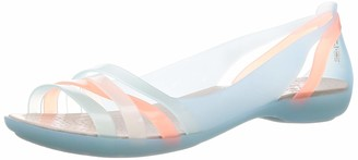 Crocs Isabella Huarache 2 Flat 204912-4c Womens Peep-Toe