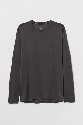 H&M Regular Fit Running Shirt - Black