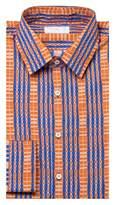 Prada Men's Point Collar Cotton Dress Shirt Patterned.