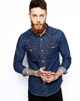 Lee Western Denim Shirt Slim Fit Dark Rinse Wash