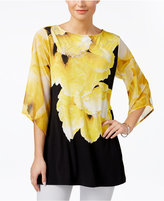 JM Collection Floral-Print Tunic, Created for Macy's