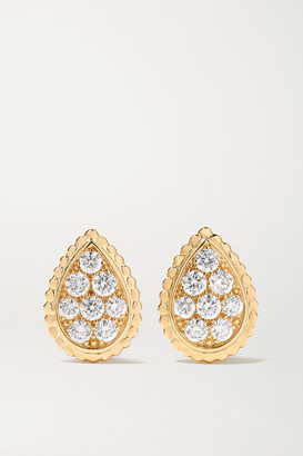 Boucheron Serpent Boheme 18-karat Gold Diamond Earrings