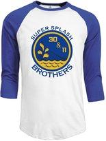 Sofia Men's Golden State Warriors Super Splash Brothers Logo 3/4 Sleeve Baseball Tee Shirts XL (3 Colors)
